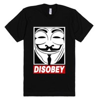 Disobey Vendetta-Unisex Black T-Shirt
