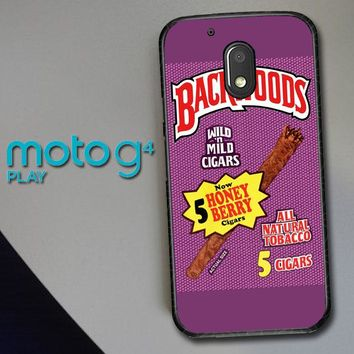Backwoods Honey Berry Cigars L2091 Motorola Moto G4 Play Case