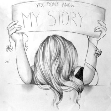 You don't know my story (Pencil drawing)