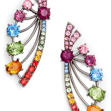 Oscar de la Renta Crystal Fan Earrings | Nordstrom