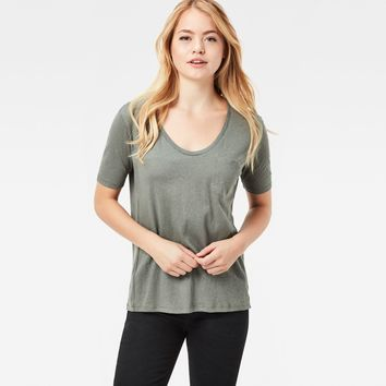 Adisyon Straight Deep-V T-Shirt | Orphus | Women | G-Star RAW®