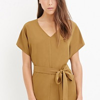 Contemporary Self-Tie Belted Tunic