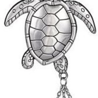 Sea Turtle Car Charm
