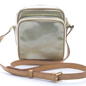 Louis Vuitton Silver Monogram Vernis Wooster Crossbody Bag