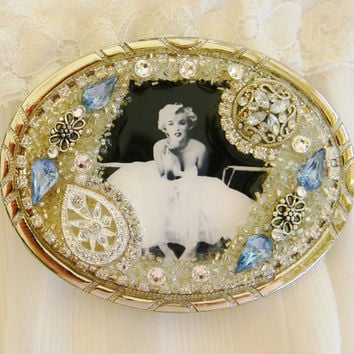 Belt Buckle Vintage Marilyn Monroe