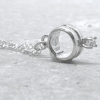 Promise Ring Necklace, Sterling Silver