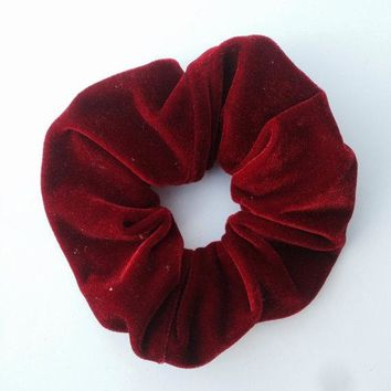 ON SALE 1PCS Women Velvet Hair Scrunchies Elastic Spring Hair Bands Ties Ponytail Holder Hair Accessories Women Girls Head Bands