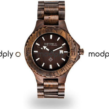 Handmade Wooden Watch, Black Sandalwood Wood Watch, Each watch is unique, No two are pieces the same, Groomsmen gift