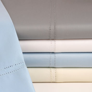 Oxford 1000 Thread Count Egyptian Cotton Luxury Sheets 4 Piece Set with Double Hemstitch