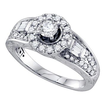 14kt White Gold Women's Round Diamond Solitaire Bridal Wedding Engagement Ring 1.00 Cttw - FREE Shipping (USA/CAN)
