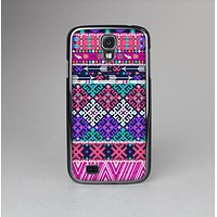 The Pink & Teal Modern Colored Aztec Pattern Skin-Sert Case for the Samsung Galaxy S4