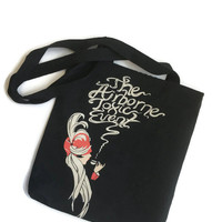 The Airborne Toxic Event Tote Upcycled T-shirt Bag