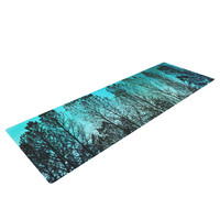 "Sylvia Cook ""Dark Forest"" Blue Trees Yoga Mat"