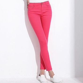Candy Color Khaki Stretch Pants