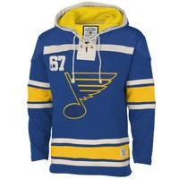 Old Time Hockey St. Louis Blues Royal Blue Home Lace Heavyweight Hoodie