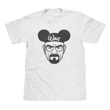 Breaking Bad Walt DIsney White Shirt Available in Adult & Youth Sizes