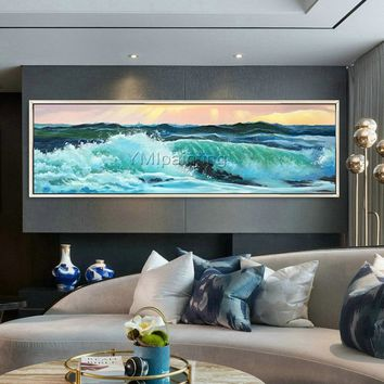 Abstract painting acrylic painting on canvas seascape painting huge art Wall Art wall Pictures for living room home decor cuadros abstractos