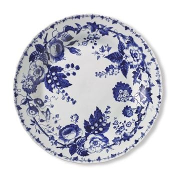 French Blue Bouquet Dinner Plates, Set of 4, Floral