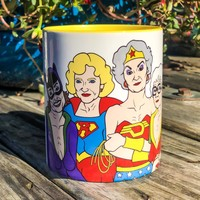 Golden Girls Turn Super Heroes Coffee Mug