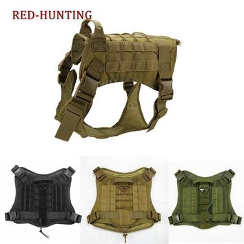 1000D Nylon Tactical Police K9 Military Molle System Dog Training Dog Harness Hunting Vest Clothes Load Bearing Harness
