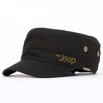2017 new jeep copper flat head hat outdoor leisure sports cap breathable men and women general fishing hat MSAPO-9014