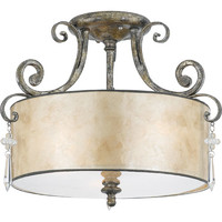 Quoizel KD1716MM Kendra Mottled Silver Semi-Flush Ceiling light