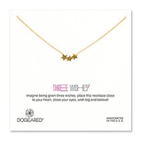 Dogeared Three Wishes Delicate Triple Star Necklace - Gold