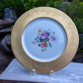 Wedding Cake Plate, Mismatched China, Pastry/ Dessert Server, Tea Party, Gold, Platter, Baby Shower Tea, Bridal Shower Tea, Wedding Gift