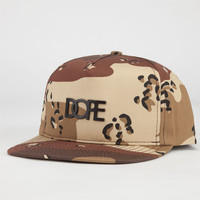 Dope Matte Black Logo Mens Snapback Hat Camo One Size For Men 23968294601