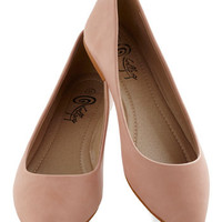 ModCloth Fairytale Defined the Scenes Flat in Blush