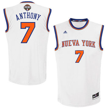 Carmelo Anthony New York Knicks adidas Noches Ene-Be-A Swingman Jersey - White