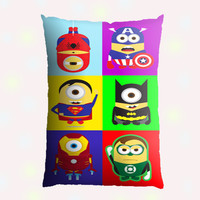 All Funny Super Hero Character Custom Pillow Case - Custom Pillow - One side ( Front Print )