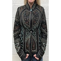 Kippy's Victoria Embroidered Elements Jacket with Studs