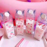 Kawaii Strawberry And Heart Water Cups