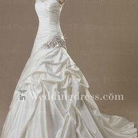 Strapless Satin Wedding Gown