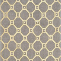 Cedar Brook Contemporary Indoor Area Rug Grey / Gold