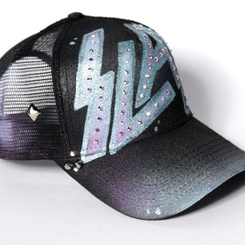 SLAY snapback hat with curved bill