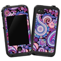 "Brilliant Jewel Tone Paisley ""Protective Decal Skin"" for LifeProof iPhone 4/4s Case"