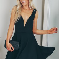 Fit and Flare Dress Black.