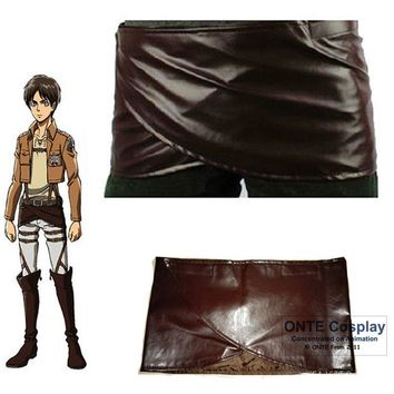 Cool Attack on Titan Anime  Cosplay Costumes no  Eren Apron Leather Skirt Hookshot Clothes for Halloween party AT_90_11