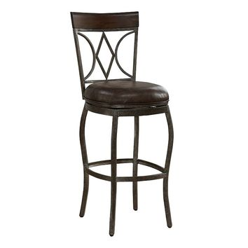 American Heritage Billiards Infinity Bar Stool (Rustic Pewter)