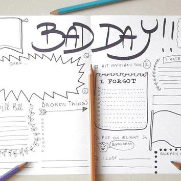 journal printable bad day daily planner agenda bujo bullet journaling office home plan organizer notebook journal download lasoffittadiste