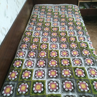 African flower crochet blanket