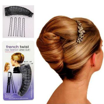 PEAPGC3 YouMap Hair Donut Bun Maker Magic Hair Styling Tools Princess Hairstyle French Twist Barrettes Hair Accessories Y5R5