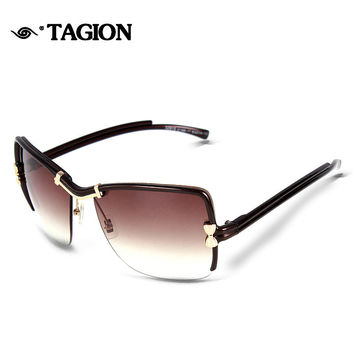 2015 New Arrival Sunglasses Women Brand Designer High Quality Lowest Price Glasses Vintage Half Frame With Bowknot Eyewear 2172