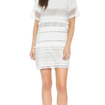 endless rose Lace Shift Dress