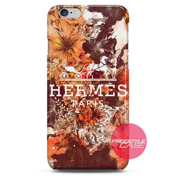 Hermes Paris Spring Flower iPhone Case 3, 4, 5, 6 Cover