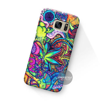 Trippy Tie Dye Alien Purple Samsung Galaxy Case Cover Series