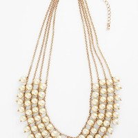 Junior Women's Stephan & Co. Multistrand Faux Pearl Statement Necklace