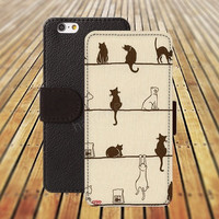 iphone 5 5s case cat case cartoon cartoon iphone 4/ 4s iPhone 6 6 Plus iphone 5C Wallet Case , iPhone 5 Case, Cover, Cases colorful pattern L102